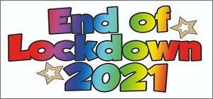 End of Lockdown 2021 Multicoloured Party Banner Celebration Decorations 3 Pack