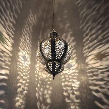 Orientalische Lampe marokkanische Hängeleuchte Orient Hängelampe Silber KHYK_S