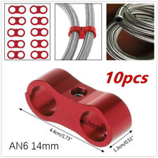 """10Pc ID 0.55"""" AN6  Braided Rubber Hose End Clamp Oil Gas Fuel Line CNC Separator"""