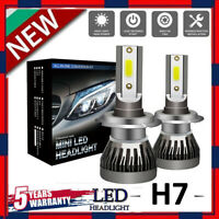 2x H7 2000W Car CREE CSP LED Headlight Kit Canbus Error Free Lamp 550000LM 6000K