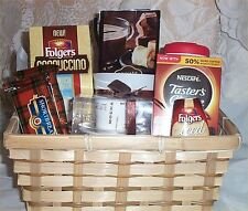 Gift Basket Foldgers Coffee Cream Cookies Candle Mug Holiday Gift Tasters Choice