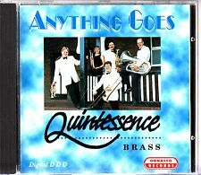 QUINTESSENCE BRASS ENSEMBLE/BAND- Anything Goes CD (RARE) Alan Fernie OOP