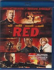 RED (Blu-ray Disc, 2011, Canadian) Bruce Willis, Morgan Freeman