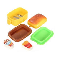 Student Eraser Kids Two Nice 2 Hole Stationery 2 Rubbers Hamburger Sharpener