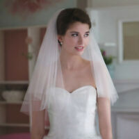LN_ Charm Double Layer Wedding Bridal Mantilla-Veil with Comb Headwear Accesso