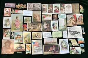 47 Victorian Trade Cards and miscellaneous Ephemera - Lot