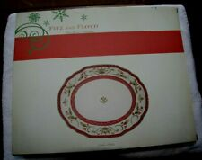 """Fitz And Floyd Woodland Holiday Christmas Cookie Platter 12"""" By 10"""""""