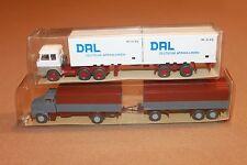 Wiking Tractor trailer trucks HO 1:87  #521 & #462  (2 vehicles)