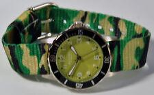 Regent montre bracelet pour enfants vert camouflage avec en tissu 7980.79.17
