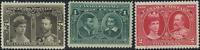 Canada #96-98 mint F-VF OG H/HR/DG 1908 Quebec Tercentenary Part Set CV$85.00
