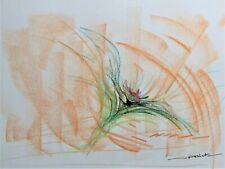 Tableau, peinture, fleur, bouquet fleur - décoration