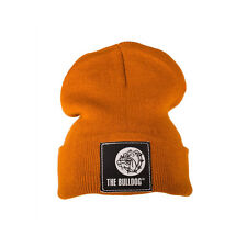★CAPPELLO THE BULLDOG LANA TAGLIA UNICA CON LOGO MARRONE BERRETTO BULCAP010★