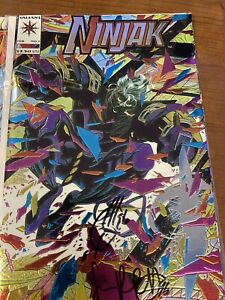 NINJAK 1 & 2 & 3 SIGNED BY JOE QUESADA & Jimmy Palmiotti Valiant Comics 1993