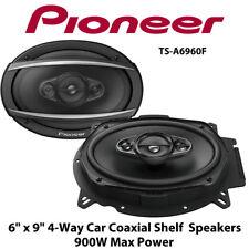 "Pioneer TS-A6960F - 6"" x 9"" 4-Way Car Coaxial Shelf  Speakers 900W Max Power"