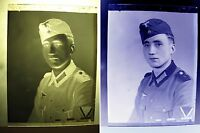 Foto Negativ Privataufnahme Potrait 2.WK-Partei-Militär Uniform-2. WK soldier-16
