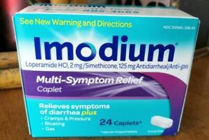 NIB IMODIUM A-D MULTI-SYMPTOM CAPLETS 24 ct -EXP 01/2022 OR LONGER
