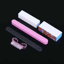5 Pcs Nail Art Buffer Block Brush Manicure Buffing Sanding Files Polish Tool Set