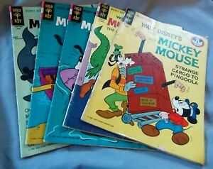 5-Mickey Mouse Gold Key Comic Books, 1963-1966