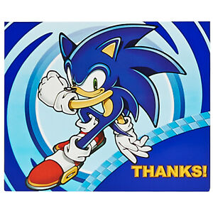 Birthday Express Sonic The Hedgehog Party Supplies Thank-You Notes (8)