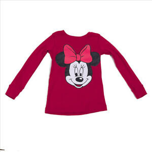 EUC Childs Minnie Mouse Red Long Sleeve Top US size 5T 5A