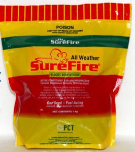 SureFire All Weather Mouse Rat Rodent Poison Bait Blocks Rodenticides 1Kg