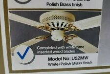 VTG SMC Royal Flush 52 in. Decorative Ceiling Fan Polished Brass Finish 4 Blade