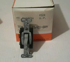 PASS & SEYMOUR 15AC1-GRY AC SWITCH 15A 120/277V (LOT OF 10) NEW $29