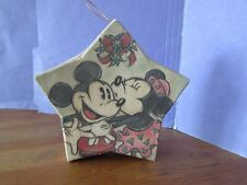 """New listing Vintage start shaped Mickey Minnie Mouse ornament gift box about 4 1/2"""""""
