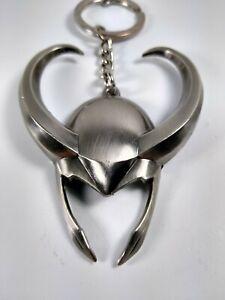 Marvel The Avengers Loki HELMET Large Metal Keychain - Fast Free Shipping!