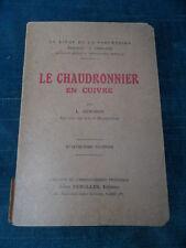LIVRE : LE CHAUDRONNIER EN CUIVRE L. GENDRON