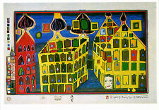 Hundertwasser•It hurts to wait with love, if love is somewhere else•POSTCARD