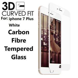 For iPhone 7 Plus White Full Cover Tempered Glass 3D Curved Screen Protector