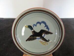 Vintage Stangl Pottery Pansey Trinket Dish 7 Yellow /& Brownish Green