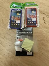 2x Back Cover Frame Case 8 x Screen Protectors - Phone Samsung I9100 Galaxy S2