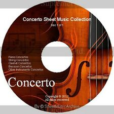 Massive Professional Concerto Sheet Music Collection Archive Library on DVD