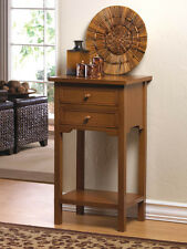 Natural Wooden Night Stand Side End Table Office Shelf  Drawer Storage CLEARANCE
