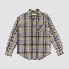 Opening Ceremony Button Down Plaid Linen Shirt Made in USA Mens Medium