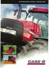 Case IH Retail Price List Tractor Harvester Brochure / Leaflet Nov 1998 6439F