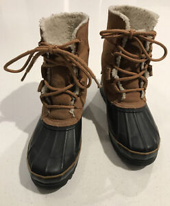 Boston Accent Women's Valley Brown Leather Duck Boots 7M