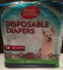 Simple Solutions Disposable Pet  Diapers Size XXL Waist 22-37""