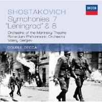 VALERY/ROP GERGIEV - SINFONIE 7,8 2 CD NEW+ SCHOSTAKOWITSCH,DMITRI