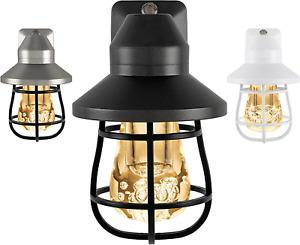 Vintage LED Night Light Plug-in, Dusk-to-Dawn Sensor Farmhouse Rustic Home Decor
