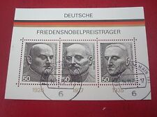 GERMANY - 1975 NOBEL PRIZE WINNERS - MINISHEET - UNMOUNTED USED MINIATURE SHEET