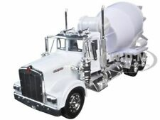 KENWORTH W900 CEMENT MIXER TRUCK WHITE 1/32 DIECAST MODEL BY NEW RAY 10533 C