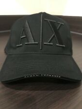 New Armani Exchange Cap Black AX Baseball Cap Black - UK Seller