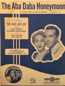 "TWO WEEKS IN LOVE (Film) ""THE ABA DABA HONEYMOON"" MOVIE SHEET MUSIC (M132)"
