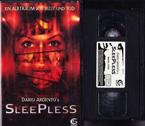 VHS Sleepless - Ein Albtraum - Dario Argento - Sunfilm - FSK 18 - Videokassette