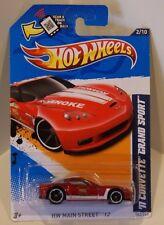 2012 Hot Wheels HW Main Street '12- '11 Corvette Grand Sport Red Roanoke Fire