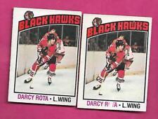 1976-77 OPC # 47 HAWKS DARCY ROTA VARIATION  CARD  (INV# A8753)