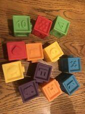 New listing Mini Soft Building Stacking Blocks Baby Toys Educational -12 Blocks